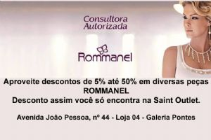ROMMANEL descontos de 5% at� 50% em diversas pe�as