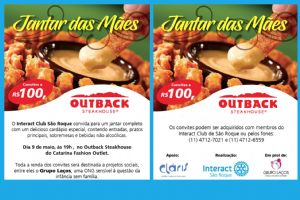 Outback do Catarina e Interact - jantar beneficente,09/05/18