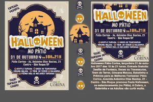 Halloween no Pátio Corina, terça-feira 31/10, das 18 às 21h